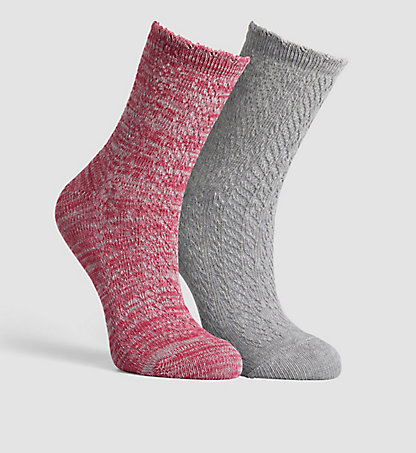 CALVIN KLEIN 2 Pack Cotton Blend Socks 0000ECB638844
