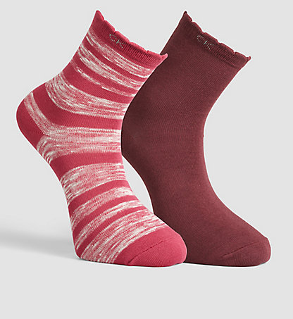 CALVIN KLEIN 2 Pack Cotton Blend Striped Socks 0000ECB639844