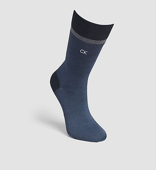 CALVINKLEIN Patterned Egyptian Cotton Socks - NAVY - CALVIN KLEIN  - main image