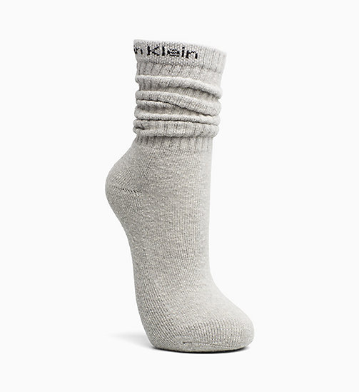 CALVINKLEIN Logo-Slouchy-Socken - OXFORD HEATHER - CALVIN KLEIN SOCKEN - main image
