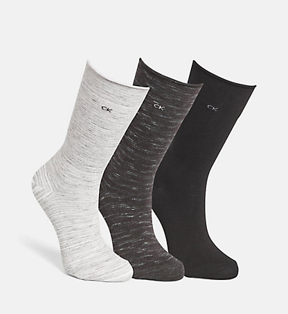 CALVIN KLEIN 3er-Pack Roll-Top-Socken 0000ECK574G60