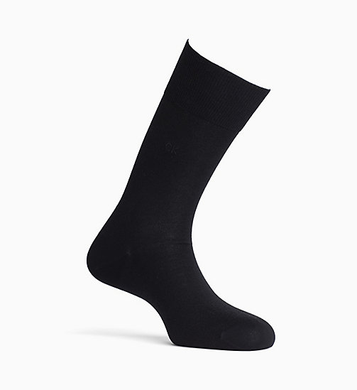 CALVINKLEIN Egyptian Cotton Crew Socks - BLACK - CALVIN KLEIN SOCKS - main image