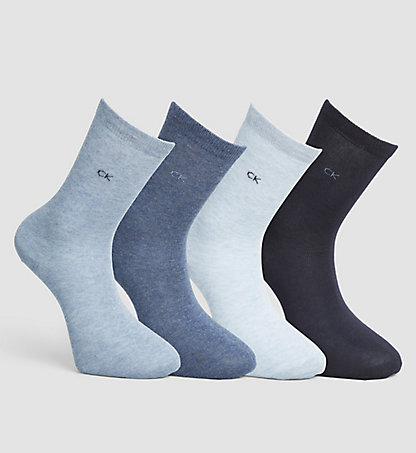 CALVIN KLEIN 4 Pack Cotton Blend Socks 0000ECW554096
