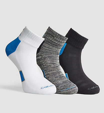 CALVIN KLEIN 3 Pack Cotton Blend Socks 0000ECX376097