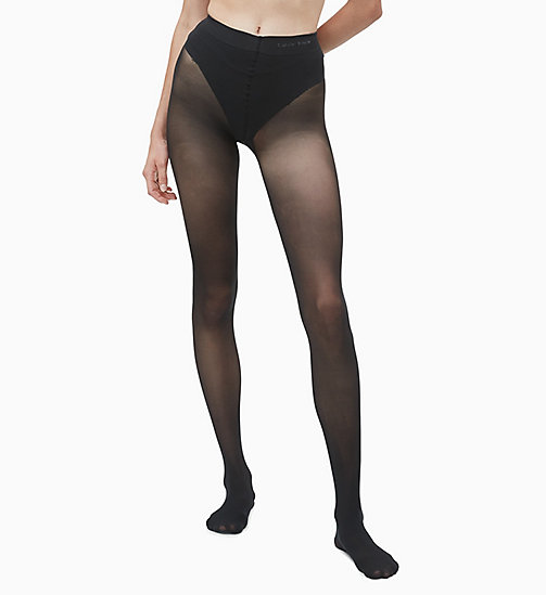 CALVINKLEIN French Cut Shaper Tights - BLACK - CALVIN KLEIN TIGHTS - detail image 1