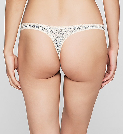 CALVINKLEIN Thong - Seductive Comfort - LAYERED ABSTRACT - CALVIN KLEIN  - detail image 1