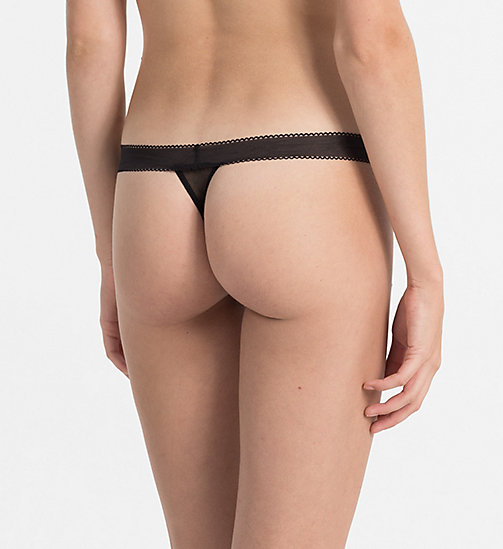 Thong - Icon - BLACK - CALVIN KLEIN UNDERWEAR - detail image 1