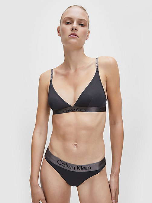 CALVINKLEIN Triangle Bra - Dual Tone - BLACK/SHADOW GR - CALVIN KLEIN SHOP BY SET - detail image 1