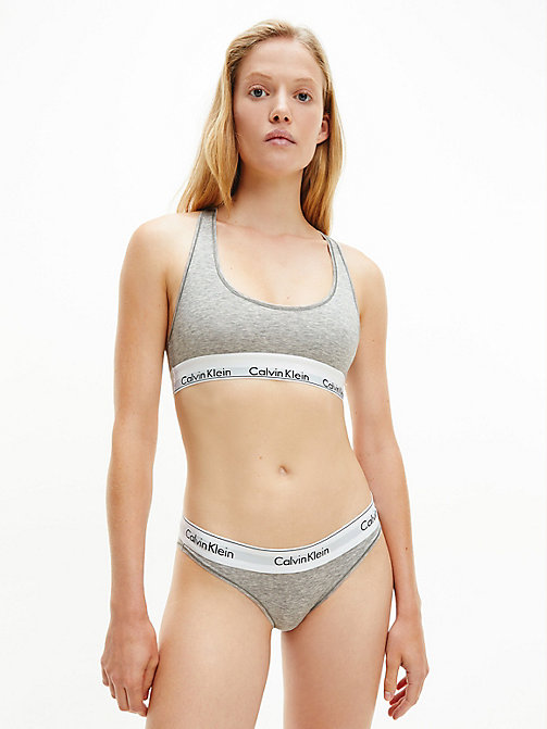 CALVINKLEIN Bralette - Modern Cotton - GREY HEATHER - CALVIN KLEIN BRAS - detail image 1