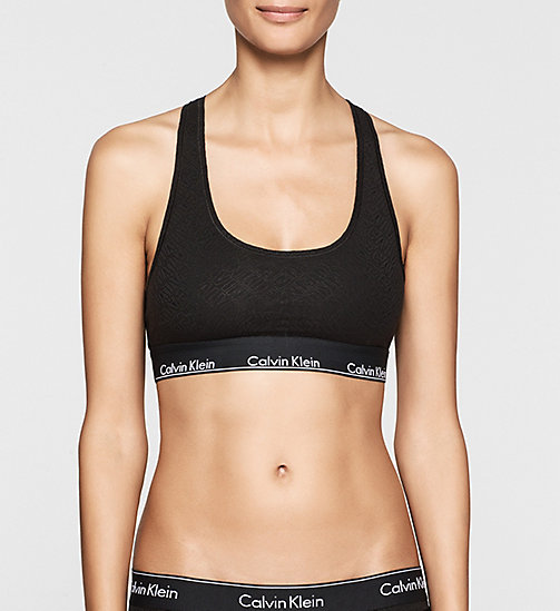 Bralette - Modern Cotton - CHEVRON OUTLINE LOGO (BLACK W - CALVIN KLEIN  - main image
