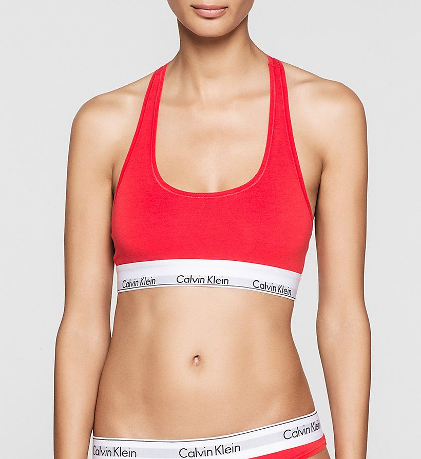 CALVINKLEIN Bralette - Modern Cotton - EVOCATIVE RED (CLASSIC WB) - CALVIN KLEIN WOMEN - main image