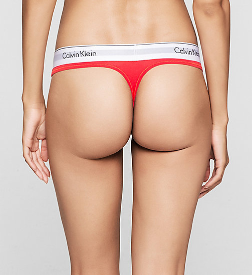 Thong - Modern Cotton - EVOCATIVE RED (CLASSIC WB) - CALVIN KLEIN WOMEN - detail image 1