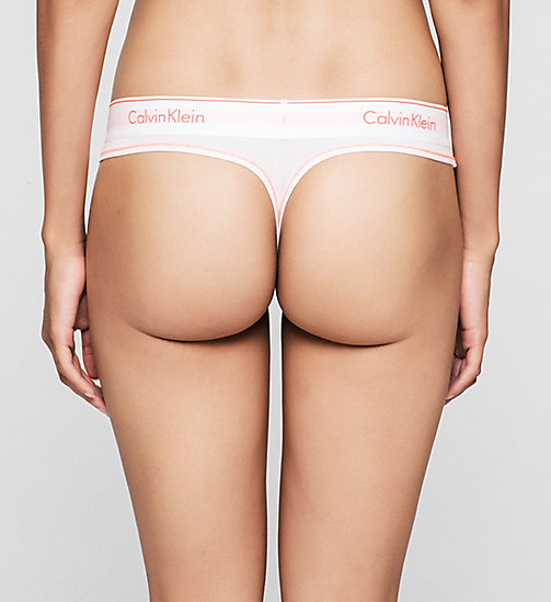CALVINKLEIN Thong - Modern Cotton - WHITE_BRIGHT NECTAR (WHITE WB - CALVIN KLEIN Up to 50% - detail image 1