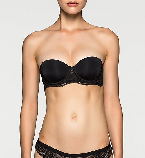 CALVINKLEIN Multiway Push-Up Bra - Infinite Lace - BLACK - CALVIN KLEIN PUSH-UP BRAS - main image
