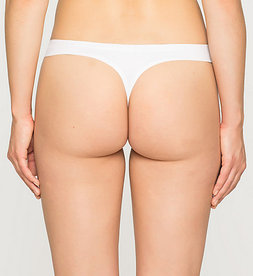 Thong - Perfectly Fit - WHITE - CALVIN KLEIN UNDERWEAR - detail image 1