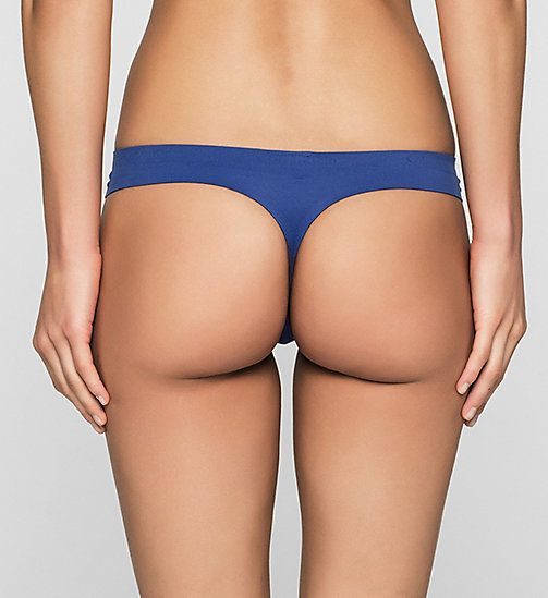 CALVINKLEIN Thong - Perfectly Fit - DARK MIDNIGHT - CALVIN KLEIN THONGS - detail image 1