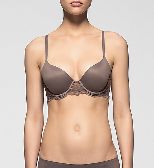 CALVINKLEIN T-shirt Bra - Perfectly Fit - SMOKE - CALVIN KLEIN T-SHIRT BEHA'S - main image