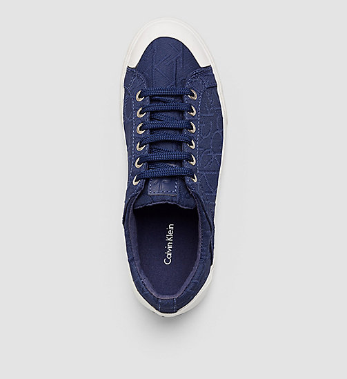 CALVINKLEIN 3D Jacquard Logo Sneakers - BLACK/DARK NAVY - CALVIN KLEIN SHOES - detail image 1