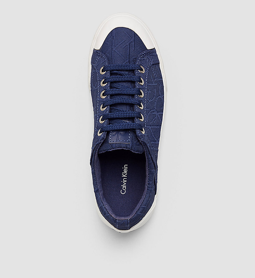 CALVINKLEIN 3D Jacquard Logo Sneakers - BLACK/DARK NAVY - CALVIN KLEIN SHOES & ACCESSORIES - detail image 1