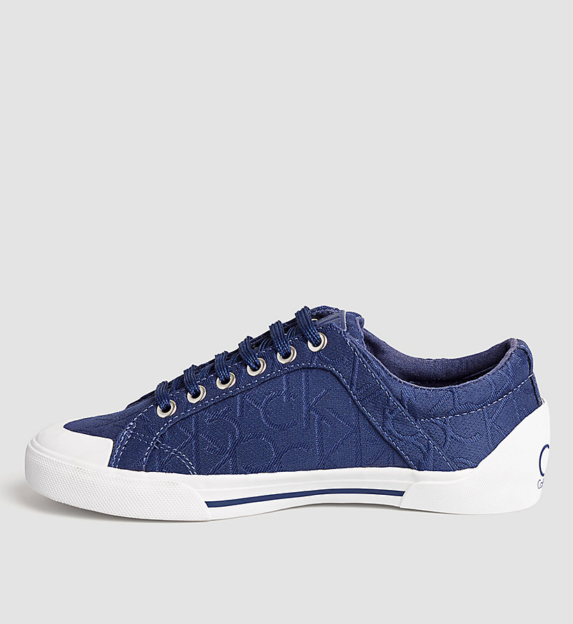 CALVINKLEIN 3D Jacquard Logo Sneakers - BLACK/DARK NAVY - CALVIN KLEIN SHOES & ACCESSORIES - detail image 2