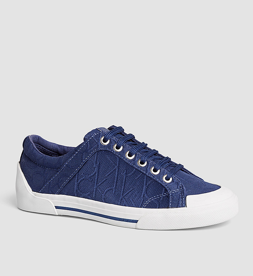 CALVINKLEIN 3D Jacquard Logo Sneakers - BLACK/DARK NAVY - CALVIN KLEIN SHOES & ACCESSORIES - main image