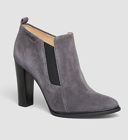 CALVIN KLEIN Suede Ankle Boots - Jalene 0000N11528EBY