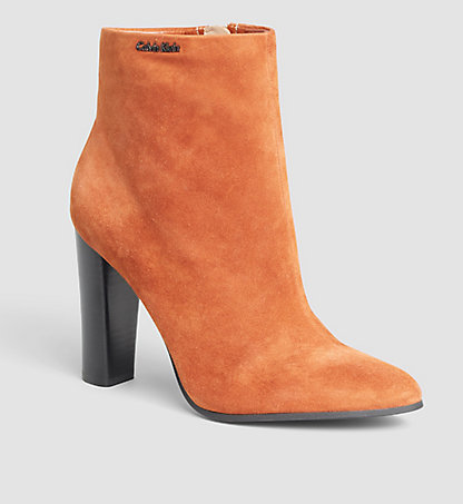 CALVIN KLEIN Suede Ankle Boots - Jude 0000N11745BDY