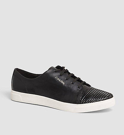 CALVIN KLEIN Leather Sneakers – Hilda 0000N11960BLK