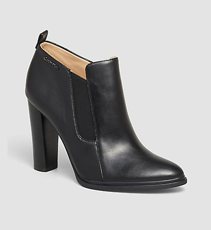 CALVIN KLEIN Leather Ankle Boots - Jalene 0000N12061BLK