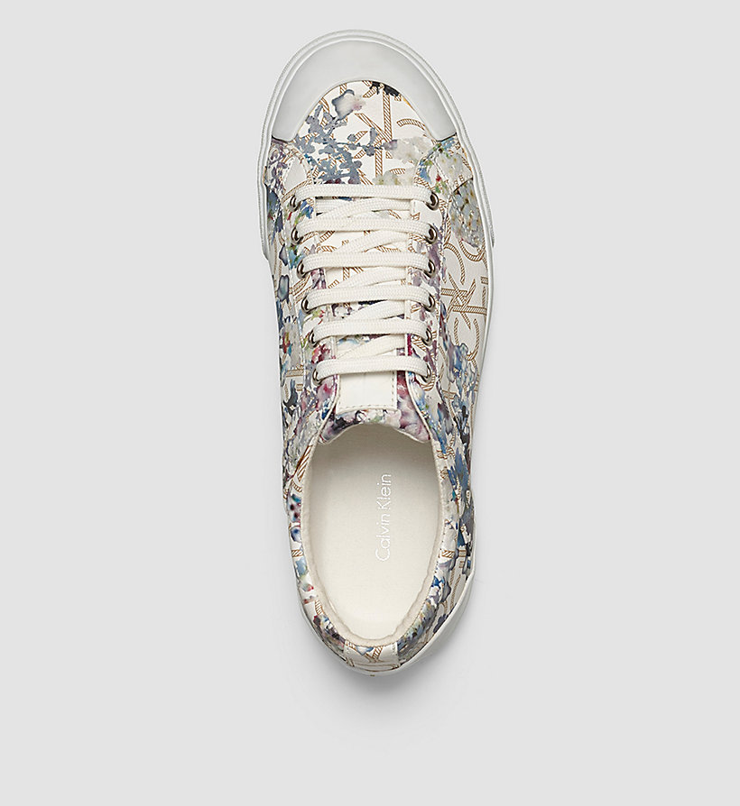 CALVINKLEIN Flower Print Logo Sneakers - BLACK/NATURAL - CALVIN KLEIN SHOES & ACCESSORIES - detail image 1