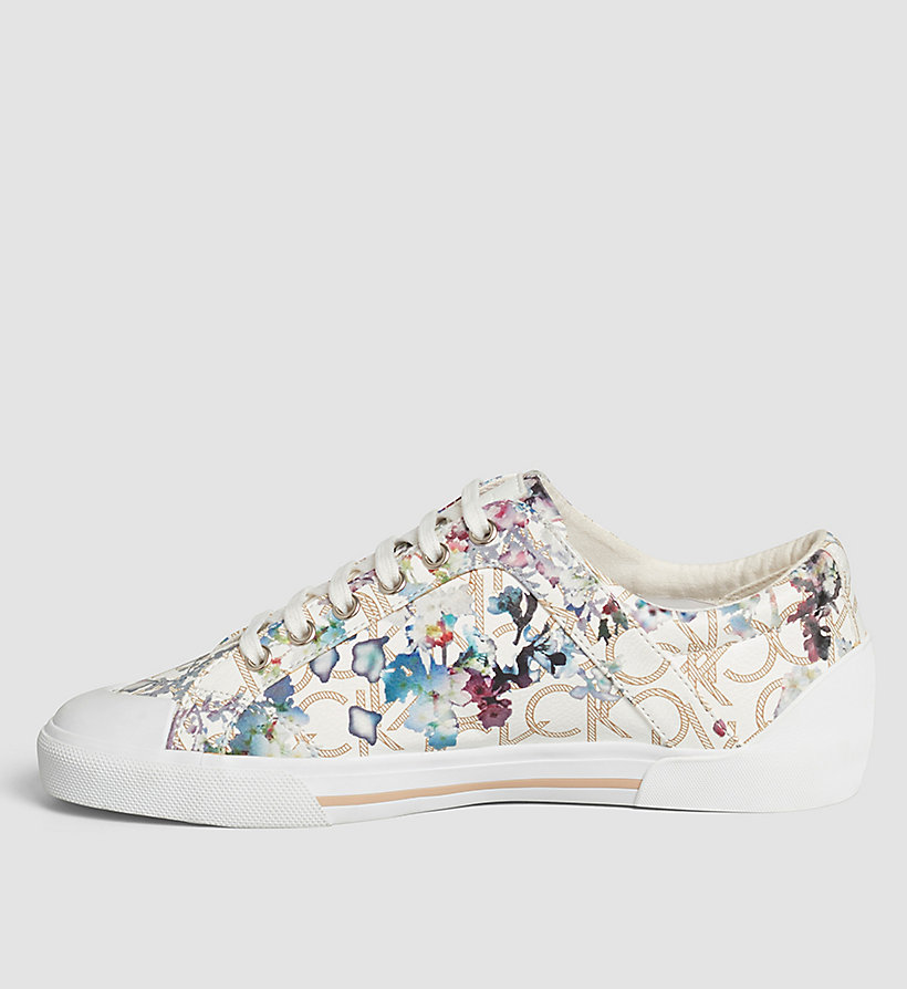 CALVINKLEIN Flower Print Logo Sneakers - BLACK/NATURAL - CALVIN KLEIN SHOES & ACCESSORIES - detail image 2