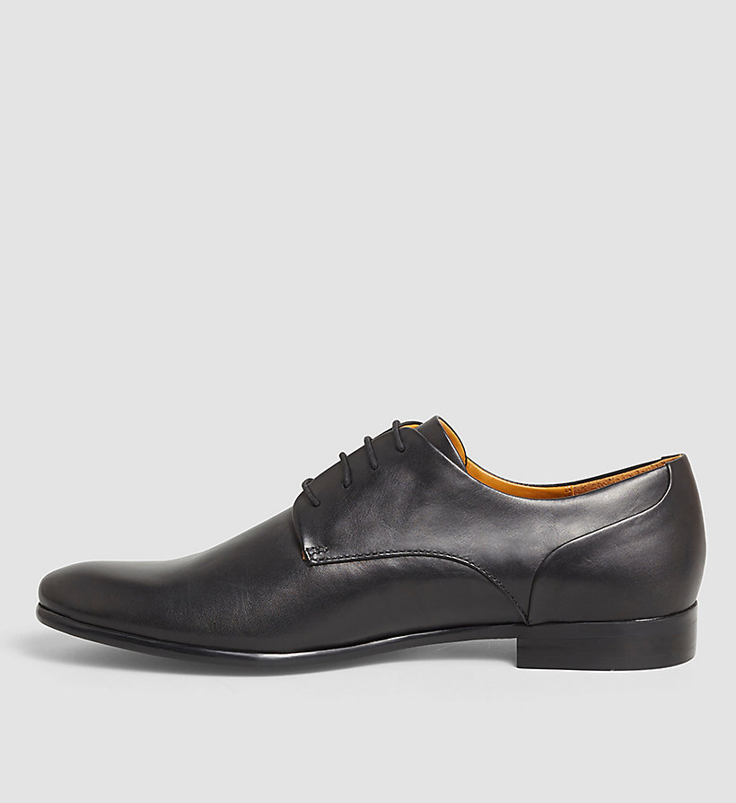 CALVINKLEIN Leather Lace-Up Shoes - BLACK/BLACK - CALVIN KLEIN SHOES & ACCESSORIES - detail image 2