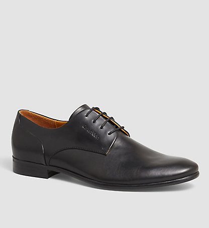 CALVIN KLEIN Leather Lace-Up Shoes 0000O10949BLK
