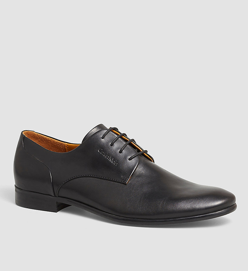 CALVINKLEIN Leather Lace-Up Shoes - BLACK/BLACK - CALVIN KLEIN SHOES & ACCESSORIES - main image