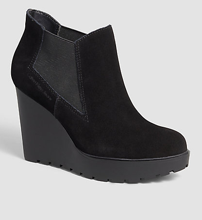 CALVIN KLEIN JEANS Suede Ankle Boots 0000RE9004BLK