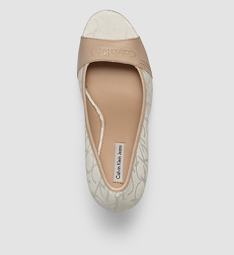 CKJEANS Jacquard Logo Pumps - WHITE/WHITE/NATURAL - CK JEANS SHOES & ACCESSORIES - detail image 1