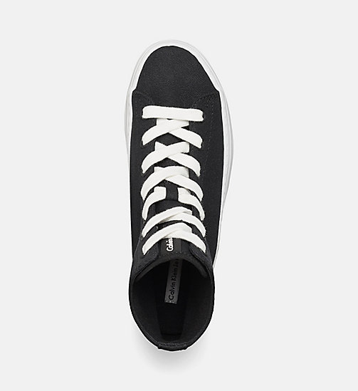 CKJEANS Canvas High-Top Sneakers - BLACK/BLACK - CK JEANS TRAINERS - detail image 1