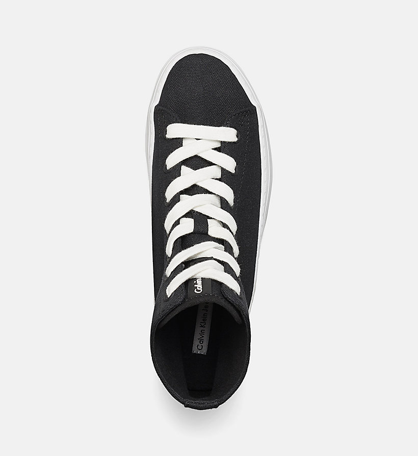 CKJEANS Canvas High-Top Sneakers - BLACK/BLACK - CK JEANS SHOES & ACCESSORIES - detail image 1
