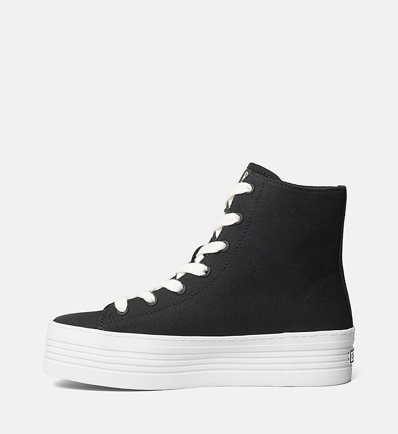 CKJEANS Canvas High-Top Sneakers - BLACK/BLACK - CK JEANS SHOES & ACCESSORIES - detail image 2