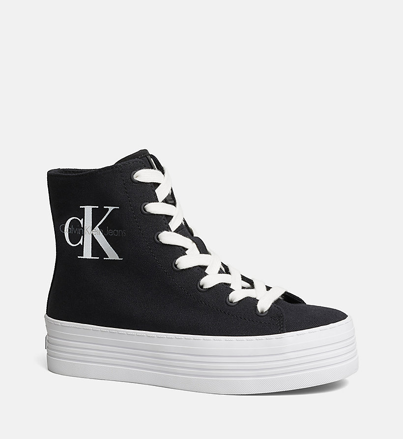 CKJEANS Canvas High-Top Sneakers - BLACK/BLACK - CK JEANS SHOES & ACCESSORIES - main image