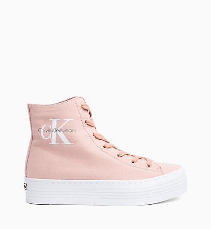 CALVIN KLEIN Canvas High-Top Sneakers 0000RE9245DSK