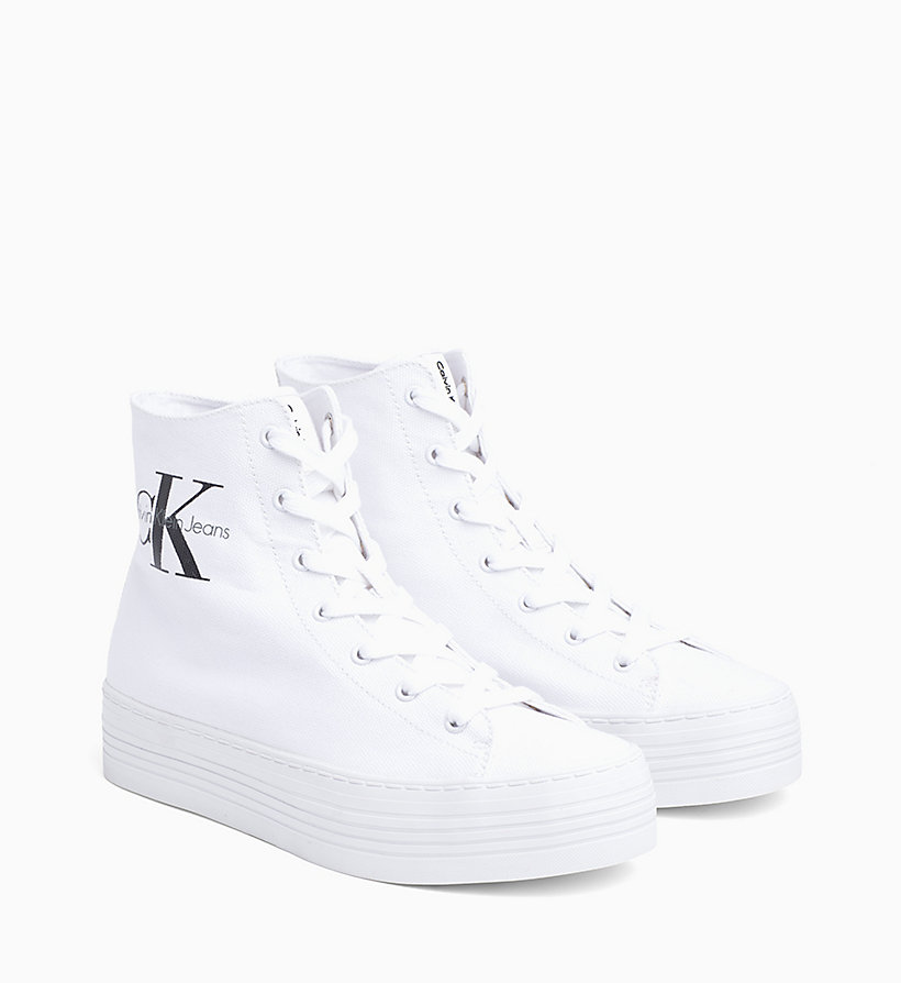 CKJEANS Canvas High-Top Sneakers - BLACK/WHITE - CK JEANS SHOES & ACCESSORIES - detail image 1
