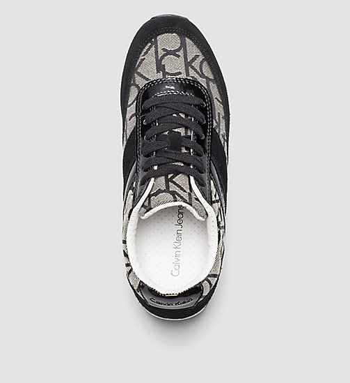 Jacquard Logo Sneakers - BLACK/GRANITE/BLACK - CK JEANS SHOES & ACCESSORIES - detail image 1
