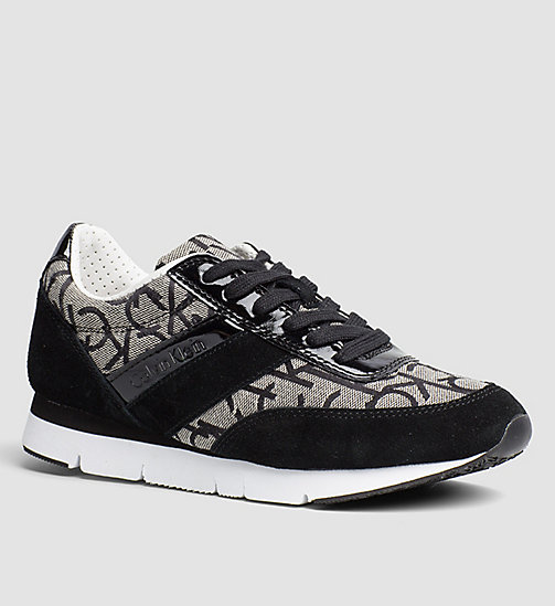 Jacquard Logo Sneakers - BLACK/GRANITE/BLACK - CK JEANS SHOES & ACCESSORIES - main image