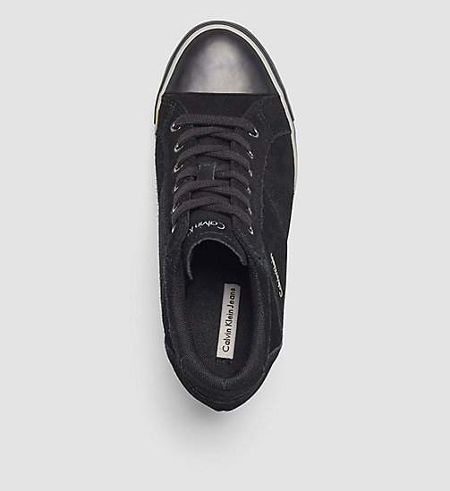Suede Sneakers - BLACK - CALVIN KLEIN JEANS SHOES & ACCESSORIES - detail image 1