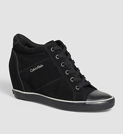 CALVIN KLEIN JEANS Baskets en daim 0000RE9359BLK