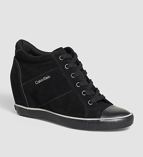 Suede Sneakers - BLACK - CALVIN KLEIN JEANS SHOES & ACCESSORIES - main image