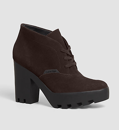 CALVIN KLEIN JEANS Ankle Boots aus Wildleder - Stevie 0000RE9366MCH