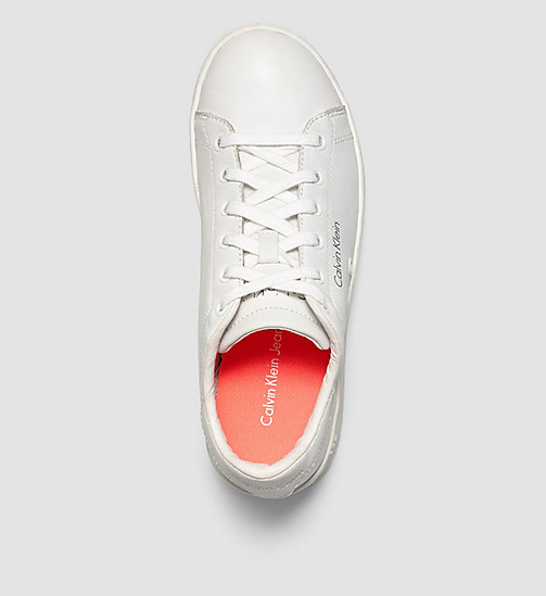 CKJEANS Leather Sneakers - WHITE/WHITE - CK JEANS TRAINERS - detail image 1