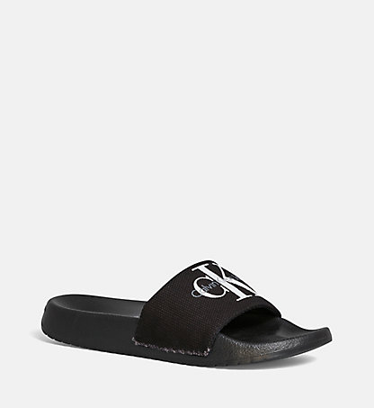 CALVIN KLEIN Canvas-Slippers 0000RE9587BLK